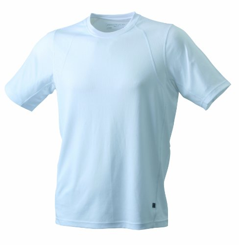 James & Nicholson -T-shirt Uomo Bianco (white/white)