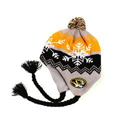 NCAA Officially Licensesd University of Missouri Mizzou Tigers YOUTH Coldwave Pom Tassel Beanie by Top of the