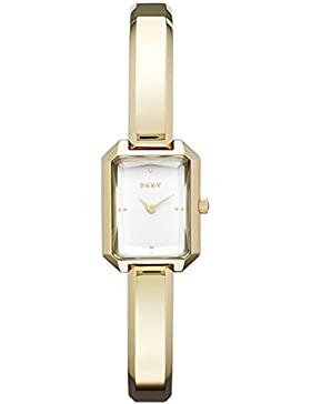DKNY Damen-Armbanduhr Armband Edelstahl Gold + Gehäuse Quarz Analog NY2648
