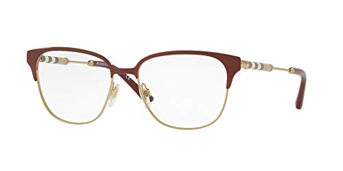 BURBERRY Damen 0BE 1313Q 1238 53 Sonnenbrille, Bordeaux/Light Gold - Burberry Light