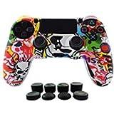 Hikfly - Juego de protectores de silicona para mando de PS4, PS4 Slim,...