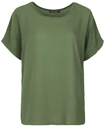 Emma & Giovanni - T-Shirt/Oberteile Kurzarm Segelstoffe - Damen (Khaki, XL/XXL)