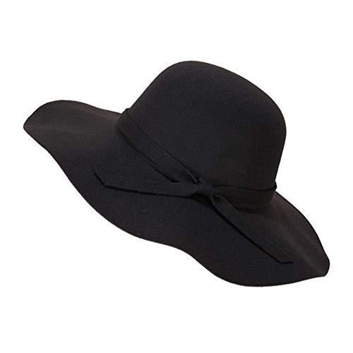 Ruikey Sombrero Ocasional del Sombrero de Moda de Las señoras del Viento Retro cabido para el Recorrido al Aire Libre