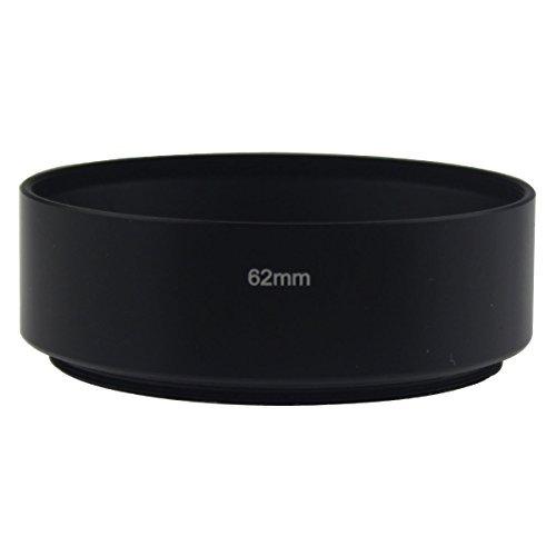 Leadasy Gegenlichtblende Metall 62mm für Nikon Canon Sony Standard Objektiv (Canon Gegenlichtblende 62mm)