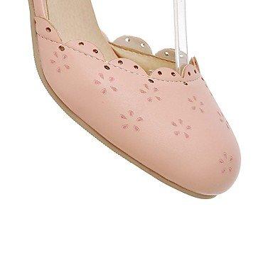 WSX&PLM Da donna-Tacchi-Formale Casual-Comoda-Quadrato-Finta pelle-Rosa Bianco Beige pink