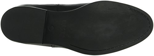 PIECES Psizi Leather Short New Boot Blc, Stivali Chelsea Donna Nero (Black)