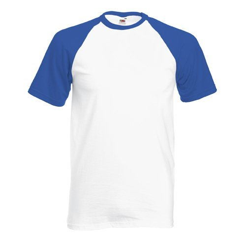 Shortsleeve Baseball T-Shirt von Fruit of the Loom WeissRoyal M