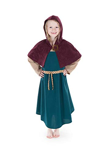 Kostüm Fancy Dress Bee - Freyja Viking Girl fancy dress 9-11yrs Girl's Costume with Cape and Brooch, Made by Pretend To Bee by Pretend to Bee