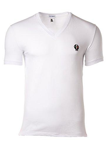 Dolce & Gabbana - Sport Crest - V-Neck Shirt - T-Shirt - weiß (L) Dolce Und Gabbana, Weißes T-shirt