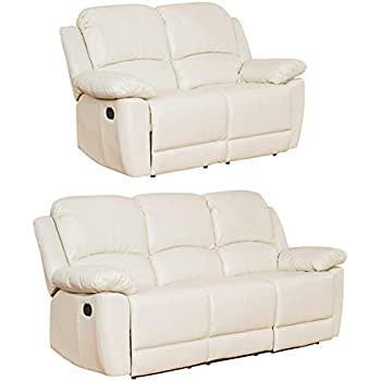Lucerne Luxury Leather Recliner Sofa Suite Different