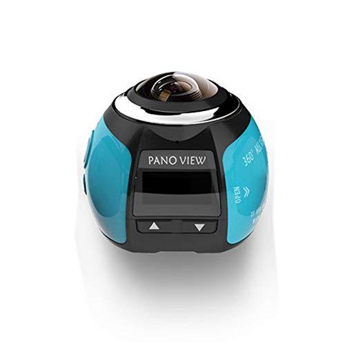 FENGSHUAI Action Kamera, 360 ° Panorama wasserdichte Mini Sport Kamera WIFI4K HD VR Virtual Reality Kamera unterstützt Multi-Language