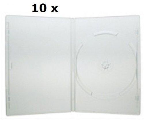 IRPot - 10 CUSTODIE SINGOLA PER DVD/CD BOX TRASPARENTE CON COPERTINA