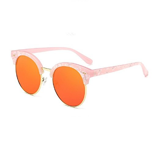 O-C Damen Sonnenbrille Orange Pink frame,Orange lens