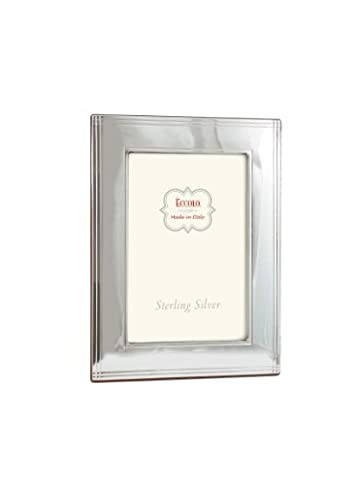 Eccolo Chased Border Sterling Frame That Holds 4 x 6-Inch Photo, Silver