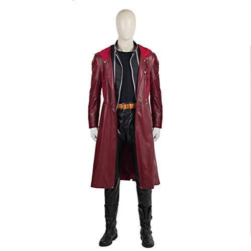 Kostüm Fullmetal Cosplay Alchemist - nihiug Fullmetal Alchemist Movie COS Kleidung In der gleichen Rubrik Leder Set Herren Cos Kostüm Halloween Kostüm,Red-XXXL