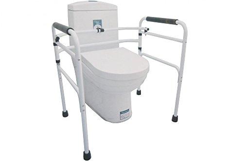Buri Toilettenstützgestell 68x56x68 Aufstehhilfe Toilettenhilfe WC