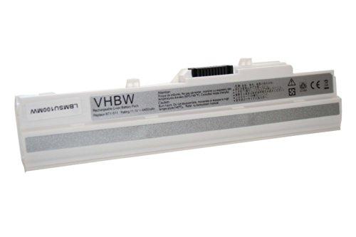 vhbw Batterie Li-ION 4400mAh 11.1V en Blanc pour MEDION AKOYA Mini E1210, E1212, E2312 etc. Netbook Notebook Laptop SUBNOTEBOOK