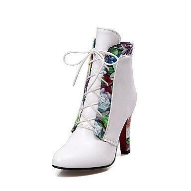 Wuyulunbi @ Chaussures Femmes Bottes Printemps / Automne / Hiver Talons / Bottes De Mode / Bootie / Round Toe Office Carrière / Vêtements / Casual Chunky Talon Us8 / Eu39 / Uk6 / Cn39