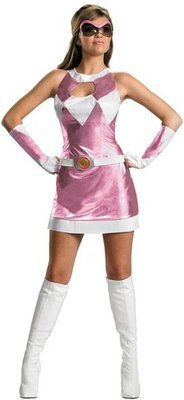 (Disguise Pink Power Ranger Kostüm sexy womens Halloween, Large)