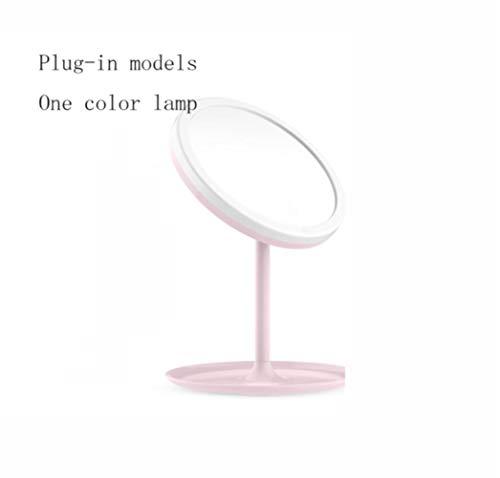 LWLJCFFF LED Pantalla táctil Espejo de Maquillaje Mesa de Escritorio Espejo portátil Iluminado USB...