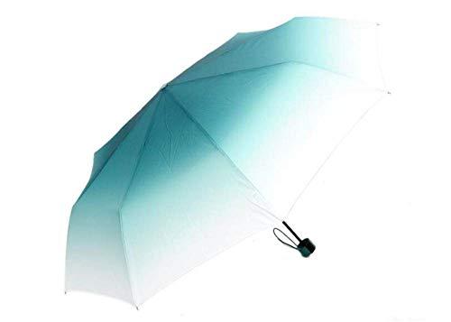 GONGFF Regenschirm Taschenschirm Gradient Candy Bunter Regenschirm Tragbar Winddicht Sonnenschutz Regen Sonne Frauen Mädchen Männer Regenschirm, B
