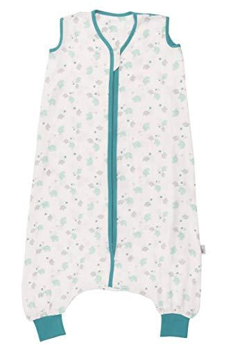 Schlummersack Schlafsack mit Füßen aus Bambus-Musselin für den Sommer ungefüttert in 0.5 Tog Elefanten Unisex - 5-6 Jahre/120cm