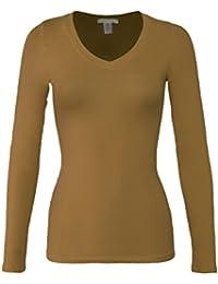 bozzolo Mujer Basic cuello cálida y suave elástico de manga larga ...