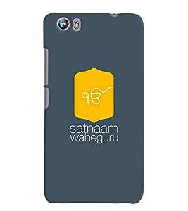 MakeMyCase Satnaam Guru-3 case For Microxax Canvas Fire 4 A107