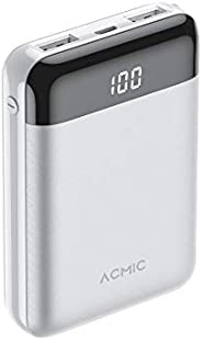 ACMIC 10000mAh Power Bank Mini Portable Charger External Battery Packs Dual USB Output ports Ultra Compact Led