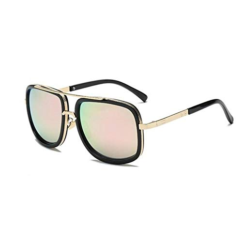 ZHOUYF Sonnenbrille Fahrerbrille Fashion Big Box Sonnenbrille Herren Square Fashion Brille Damen Retro-Sonnenbrille, G