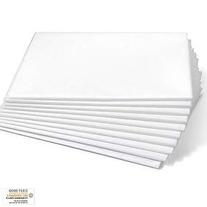 Dr. Güstel Waschfaserlaken ® CLASSIC weiß 120 x 210 cm (1 Stück), 200-mal waschbar Vlieslaken Auflagen für die Behandlungsliege
