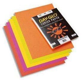 Papyrus Day Glo Paquet de 100 feuilles papier couleur copieur/imprimante laser 100 grammes A3 fluo Assorties