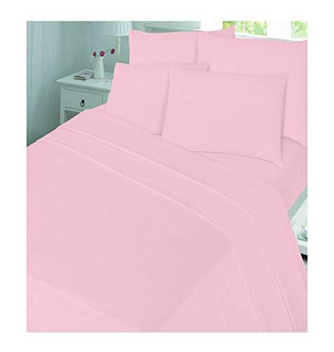 Islander Fashions Flannelette Bettbezug-Set 100% Geb�rstete Baumwolle Bettbez�ge in Allen Gr��en Pink King