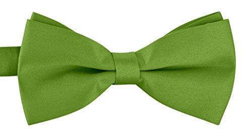 BomGuard matte Fliege für Herren grün I Männer Fliege für Hochzeit, Party oder edele Anlässe I Trendy Bow Tie I Schleifen Fliege nichtglänzend Black Tie Bow Tie