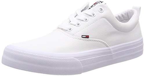Hilfiger Denim Classic Tommy Jeans Sneaker, Scarpe da Ginnastica Basse Uomo, Bianco (White 100), 43 EU