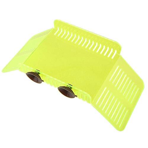 Plástico Plataforma para Tomar el Sol de la Tortuga Muelle de la Tortuga Terraza Reposo Hábitat para Reptiles Acuario Tanque de Peces Escalada Isla Flotante con Ventosa para Reptiles Anfibios