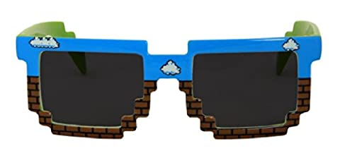 Dash Costumes - Pixel 8-Bit Costume Blue & Brown Brick