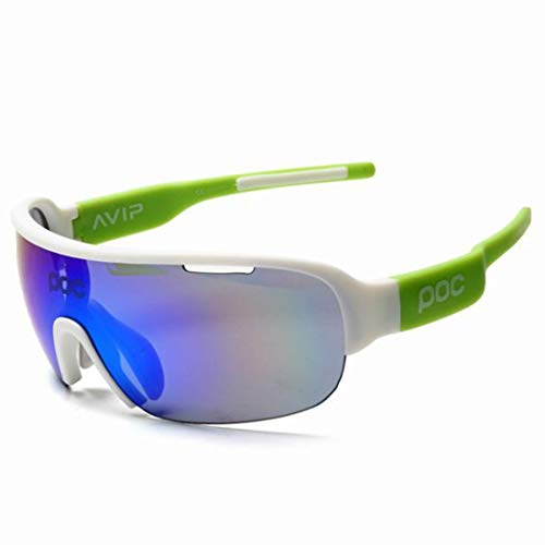 Jiuyizhe Half-Frame-Brille Mountainbike Winddicht Sand Reiten Outdoor-Sportbrillen für Frauen Männer (Color : G)