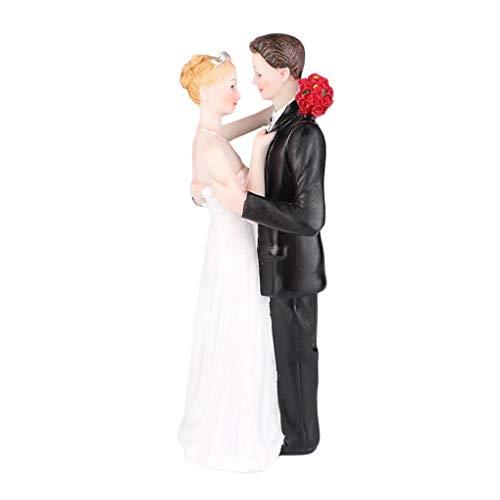 Masterein Romantische Braut-Bräutigam-Hochzeit Kunstharz-Micro-Kuchen Aufkleber ()