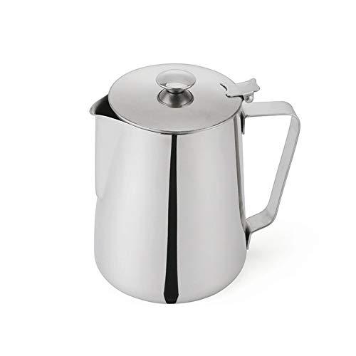 XWSH Edelstahl mit Deckel Milch Tasse Pull Cup, Latte Milch Schaum Topf Kaffee/Tee/Milch Wasser Krug Küche Kaffeekanne (Size : 350ml) (Pulls Küche Tasse)