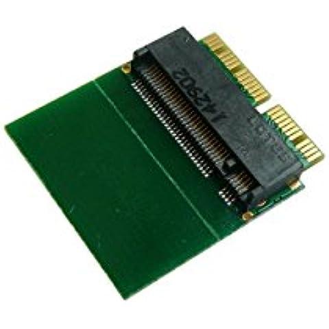 Kalea-Informatique–Adaptador M2Type PCIe (B + M o M Key) a Macbook 2013y Plus con SSD en 12+ 16puntos–para montar un SSD M2en lugar y Plaza del SSD de origen en 12+ 16pines sobre un