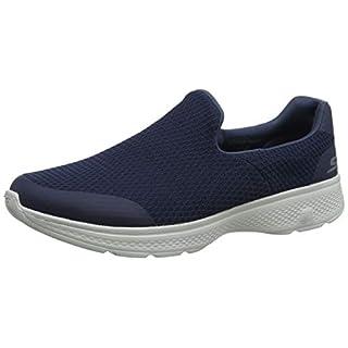 Skechers Men's GO Walk 4 -Alliance Slip On Trainers, Blue (Navy Grey Nvgy), 10 (44.5 EU)