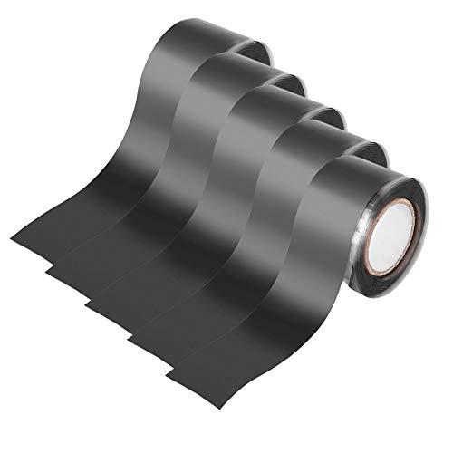 AIZYR Selbstklebendes Gaffer-Klebeband 1 Zoll X 9.8 Fuß-Garten-Wasserrohr-Reparatur-Band-Dichtungs-Band-Silikon-Werkzeug-Schwarzes,5Pack
