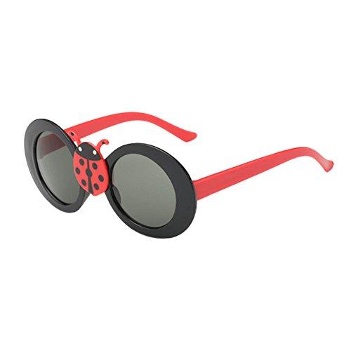 Haodasi Nouveau beetle décoré enfants lunettes de soleil black