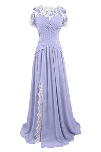 Sunvary lungo elegante gioiello in raso abito da sera sera Mother's Dress Lavanda