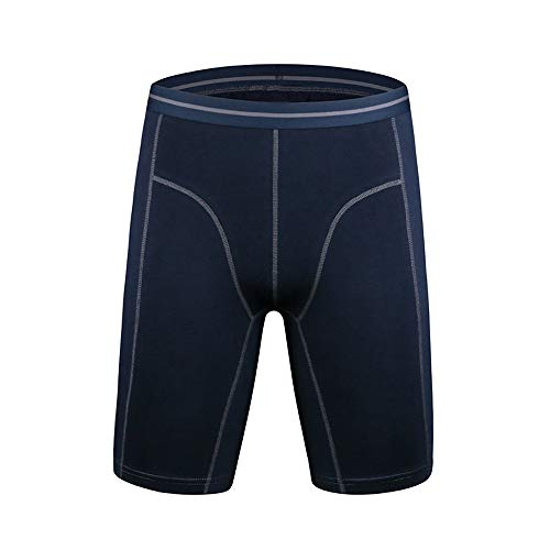 MAYOGO Herren Hose Sommer-Retroshorts-Boxershorts aus Leinen-Baumwolle,Elastisch Anti-Wear Lang Bein Outdoor Sports Shorts Einfarbig Unterwäsche