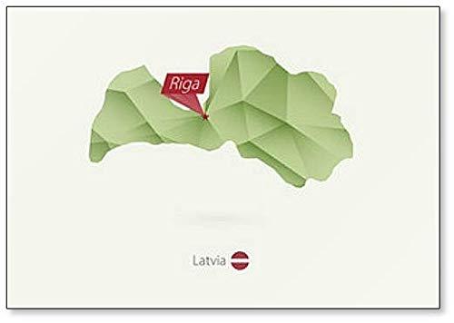 Kühlschrankmagnet Lettland mit Hauptstadt, Riga