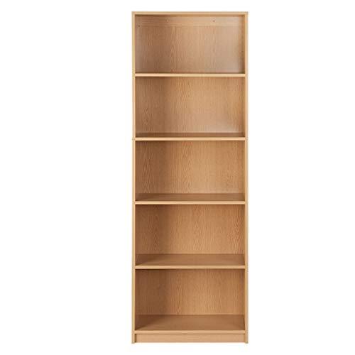 YST Bücherregal HX Bücherregal Bücherregal einfaches Büro Lagerregal Mehrschichtiges einfaches Lagerregal (Color : Light Oak) - Oak Media Storage