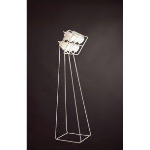 """'Lampe Métal de terre avec 6lampes """"Multilamp cm.53x 51h.180-bianca"""