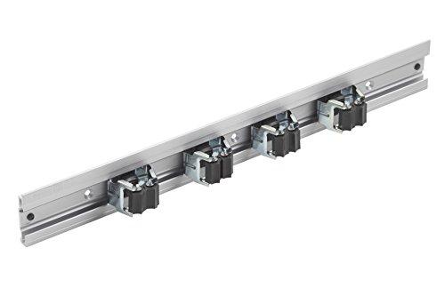 Meister, Barra porta attrezzi in alluminio, incl. 4 supporti per attrezzi, 500 mm, 9953160